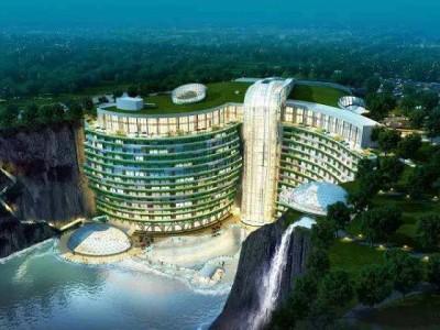 上海松江深坑酒店水帘项目橡胶接头案例