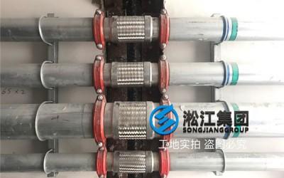 上海银商科技园卡箍式金属软管使用现场