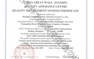 "ISO 9001:2015 New Quality Management System Certificate ""GB/T19001-2016 Standard"""
