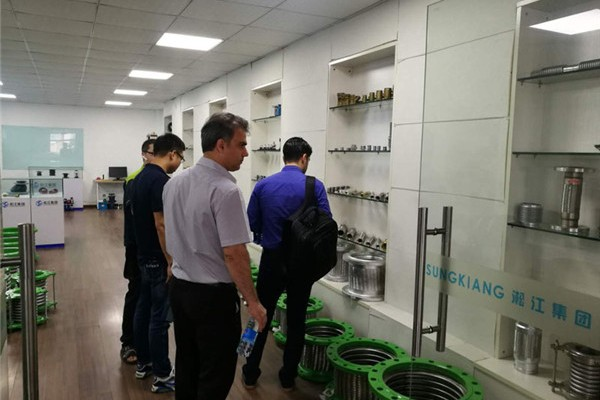 Foreign customers visit Songjiang Group on July 6, 2018