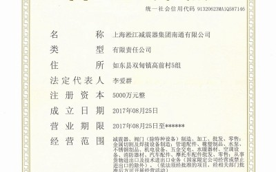 上海淞江减振器集团南通有限公司营业执照