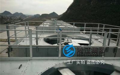 ZTF弹簧减振器方形冷却塔安装现场