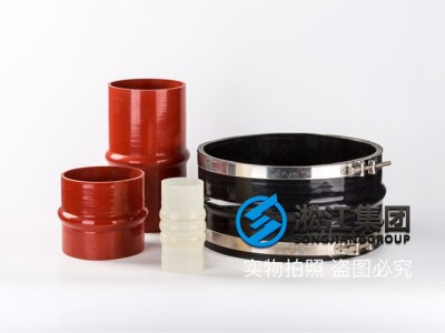Rubber joint of damper clamp for rainwater pipeline