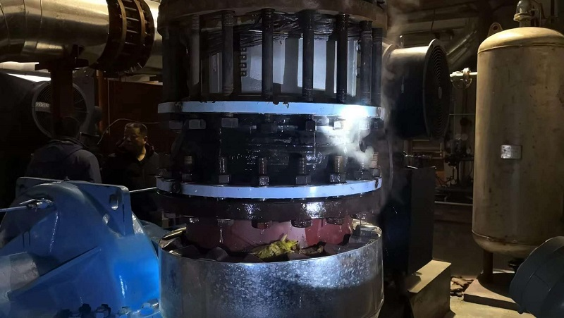 Report on pull-out of rubber soft joint in a municipal thermal boiler room