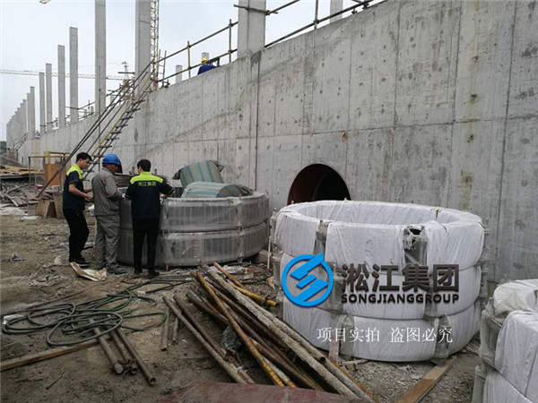 Installation Site of Rubber Soft Joint in Shanghai Sewage Treatment Plant